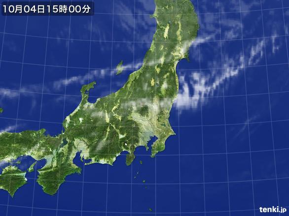実況天気図(2015年10月04日)