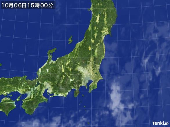 実況天気図(2015年10月06日)