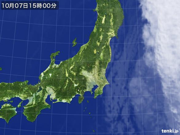 実況天気図(2015年10月07日)