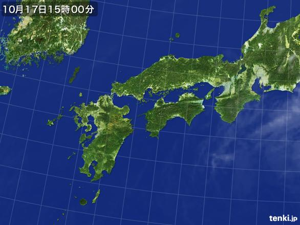 実況天気図(2015年10月17日)
