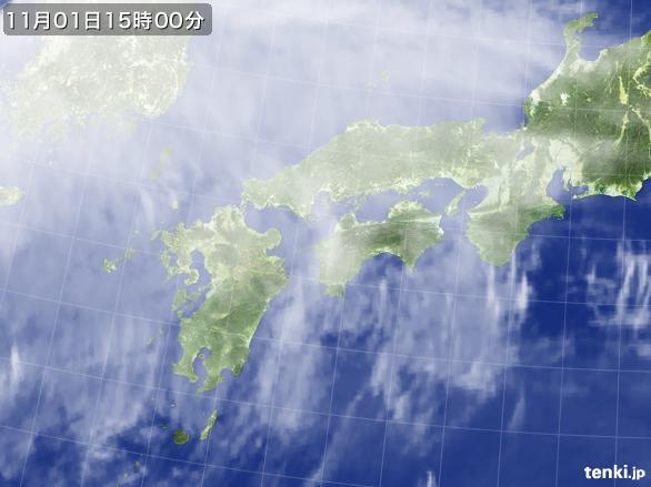 実況天気図(2015年11月01日)