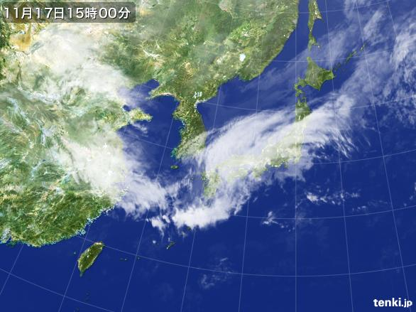 実況天気図(2015年11月17日)