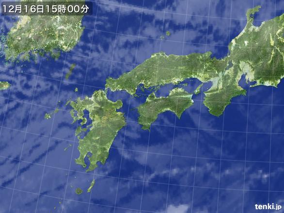 実況天気図(2015年12月16日)
