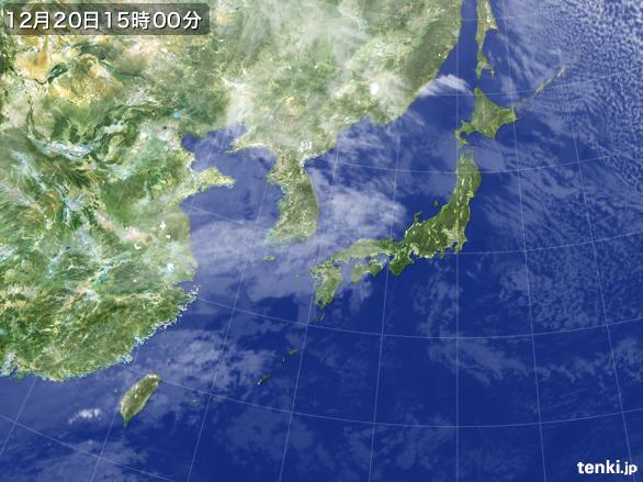 実況天気図(2015年12月20日)