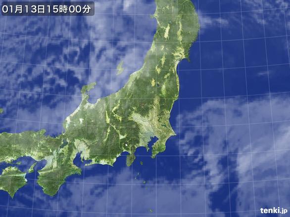 実況天気図(2016年01月13日)