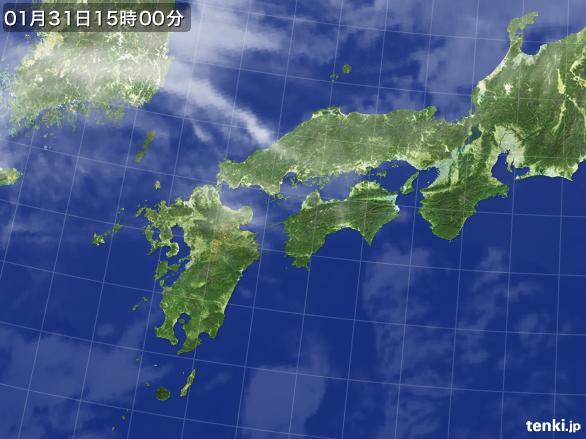 実況天気図(2016年01月31日)