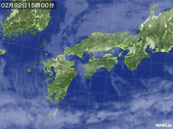 実況天気図(2016年02月02日)