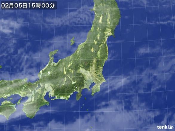 実況天気図(2016年02月05日)