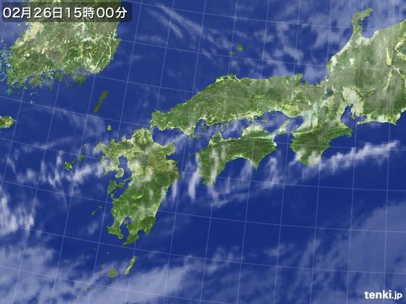 実況天気図(2016年02月26日)