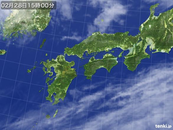実況天気図(2016年02月28日)