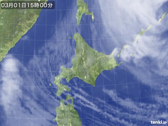 実況天気図(2016年03月01日)