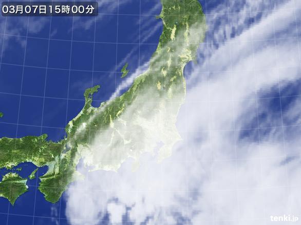 実況天気図(2016年03月07日)