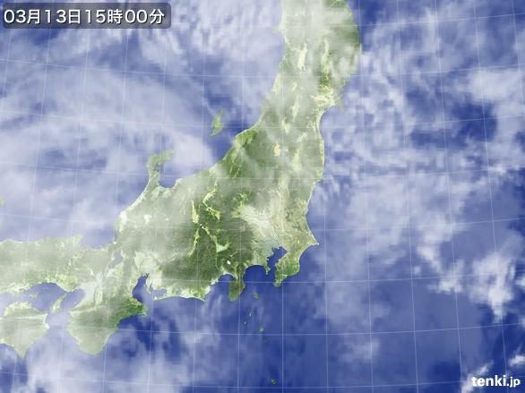 実況天気図(2016年03月13日)