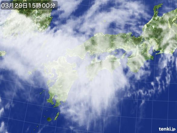 実況天気図(2016年03月29日)