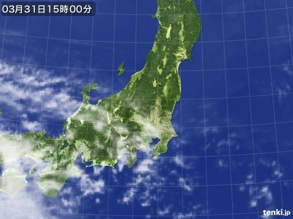 実況天気図(2016年03月31日)
