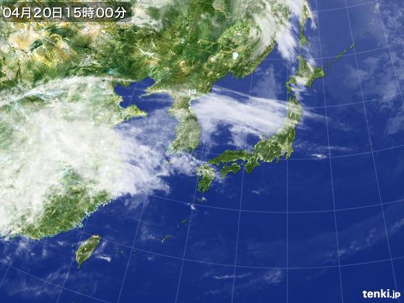 実況天気図(2016年04月20日)