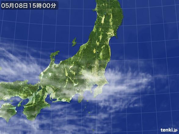 実況天気図(2016年05月08日)