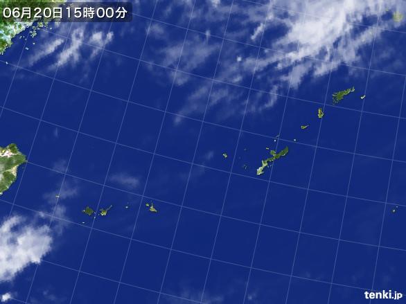 実況天気図(2016年06月20日)
