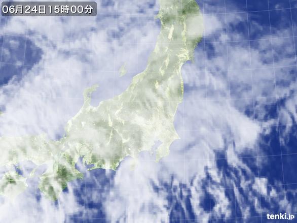 実況天気図(2016年06月24日)