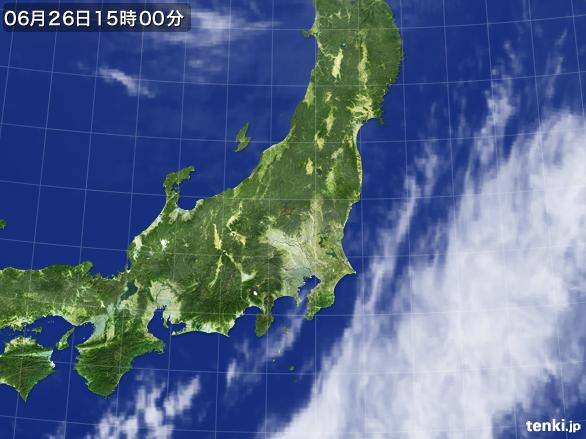 実況天気図(2016年06月26日)