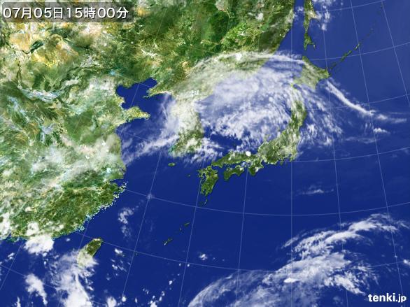 実況天気図(2016年07月05日)