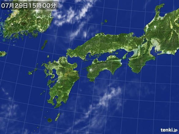 実況天気図(2016年07月29日)