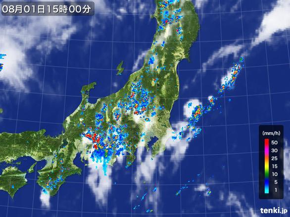 実況天気図(2016年08月01日)