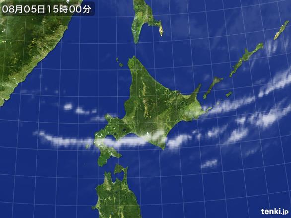 実況天気図(2016年08月05日)