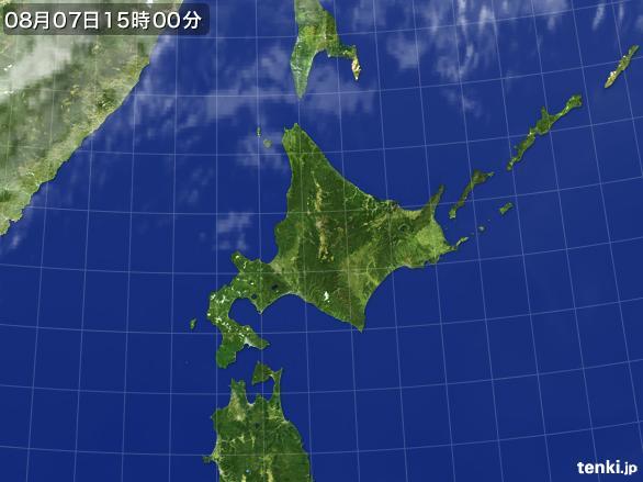 実況天気図(2016年08月07日)
