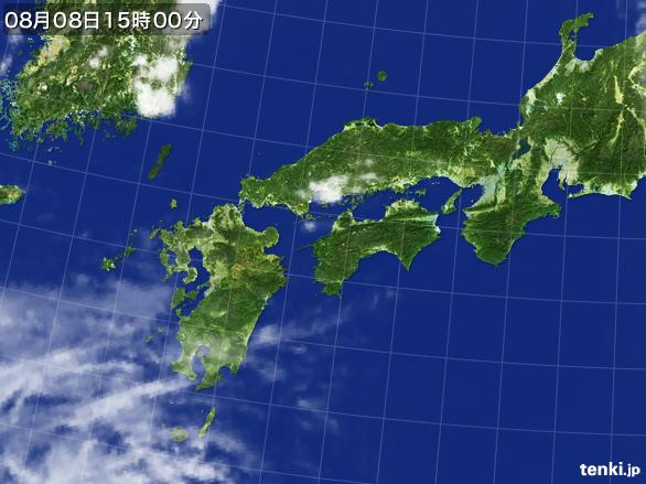 実況天気図(2016年08月08日)