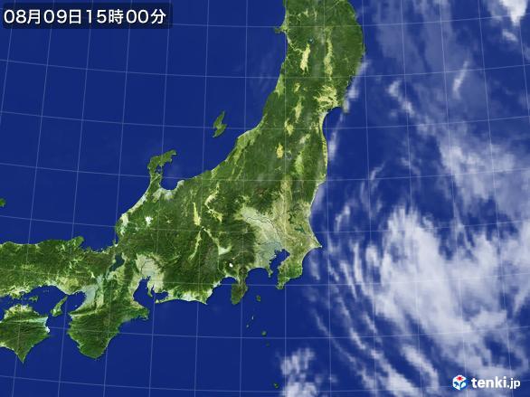 実況天気図(2016年08月09日)