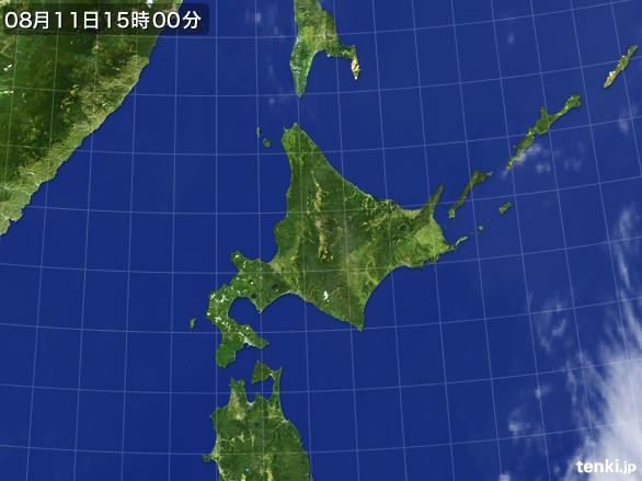 実況天気図(2016年08月11日)