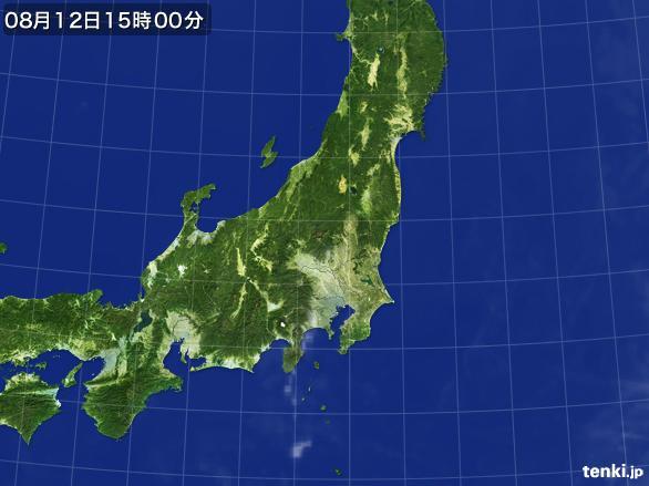 実況天気図(2016年08月12日)