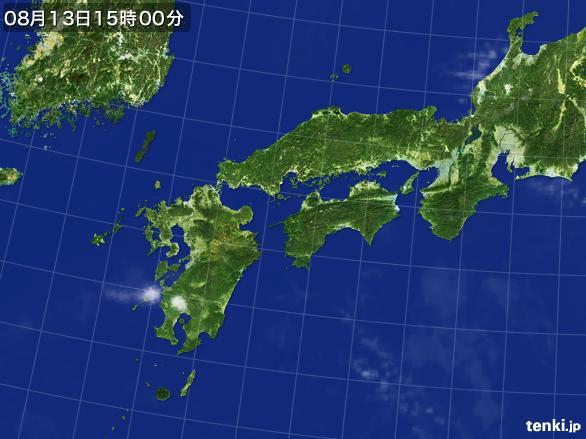実況天気図(2016年08月13日)