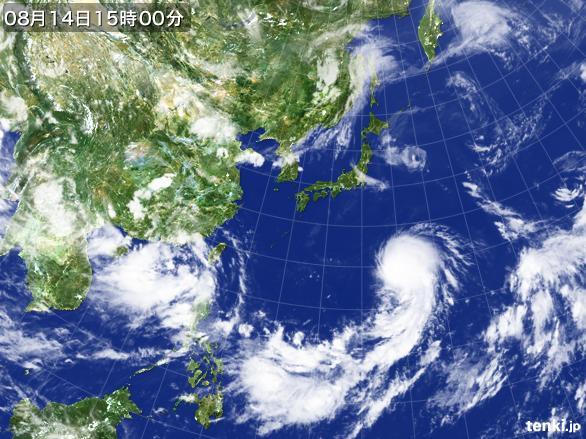 実況天気図(2016年08月14日)