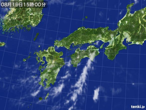実況天気図(2016年08月19日)