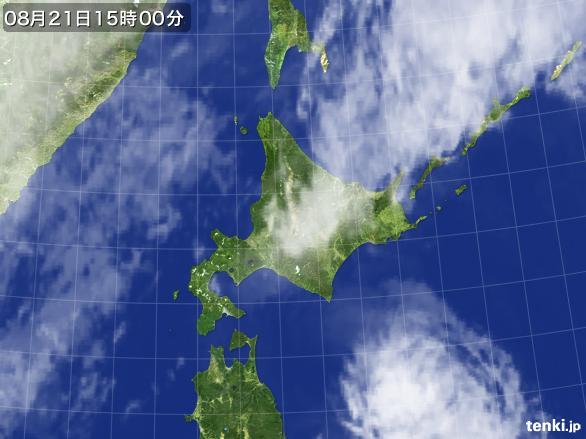 実況天気図(2016年08月21日)