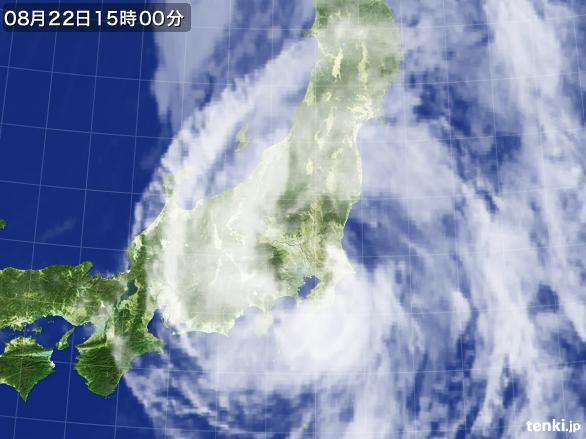 実況天気図(2016年08月22日)