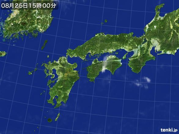 実況天気図(2016年08月25日)