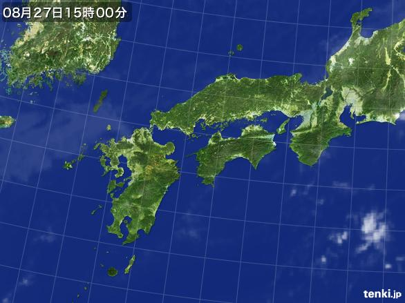 実況天気図(2016年08月27日)