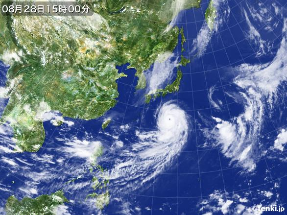 実況天気図(2016年08月28日)