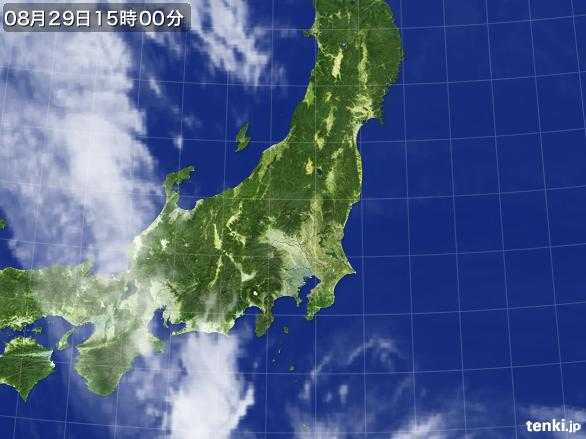 実況天気図(2016年08月29日)