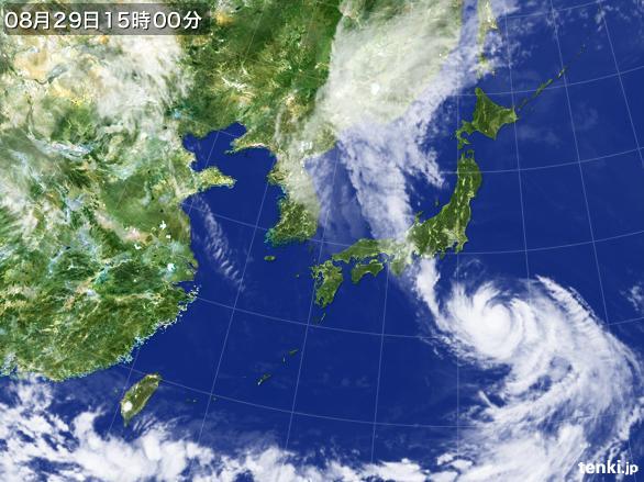 過去の気象衛星(日本付近)(2016...