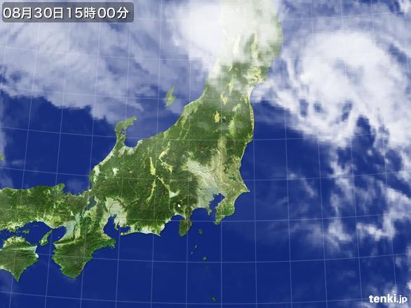 実況天気図(2016年08月30日)