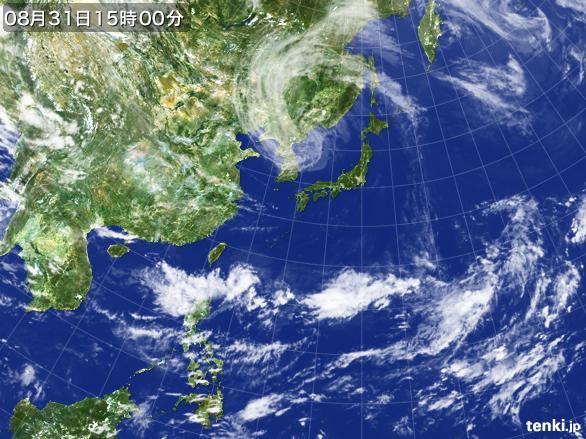 実況天気図(2016年08月31日)