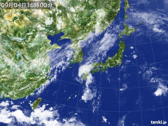 実況天気図(2016年09月04日)