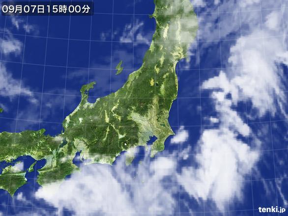 実況天気図(2016年09月07日)