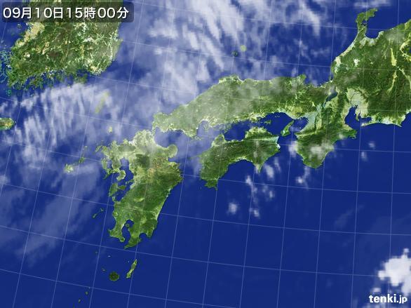 実況天気図(2016年09月10日)