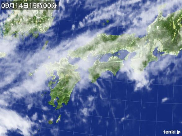 実況天気図(2016年09月14日)