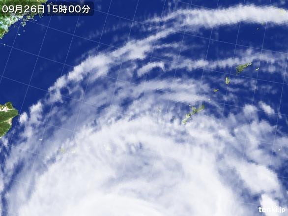 実況天気図(2016年09月26日)